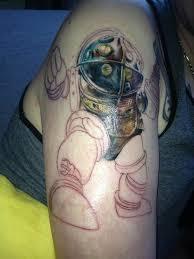 start of my buddies bioshock tattoo bioshock