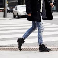 mens biker style boots winterproofed in krane alexanderliang com