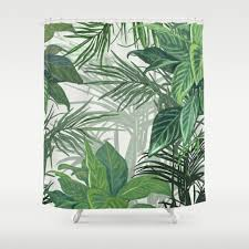 Hawaiian Print Shower Curtains by Tropicalleaves Shower Curtains Society6