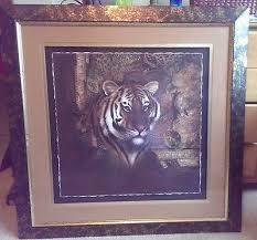 home interior tiger picture rare home interior tiger print yojunk sales pinterest tiger print