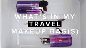 what u0027s in my travel makeup bag s heyclaire youtube