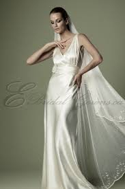 vintage wedding dresses london 1930s silk satin high waistband crossover bodice v