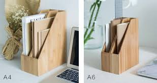 Desk Folder Organizer Bamboo Desk Office Magazine File Folder Organizer Feelgift