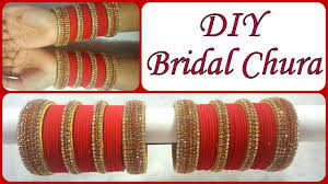 wedding chura bangles diy golden bridal chura i recycle bangles into bridal silk