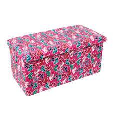 Pink Storage Ottoman Qoo10 Pink Storage Stool Furniture Deco