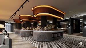 beautiful modern design for a large restaurant in dubai spazio