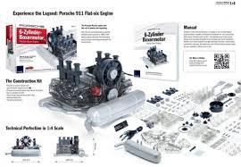 engine porsche 911 911 flat six air cooled model engine 1 4 scale kit