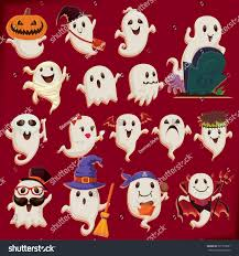 vintage halloween poster design set ghost stock vector 321375581