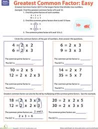 prime numbers and factors worksheet 305 best math factors images on greatest common