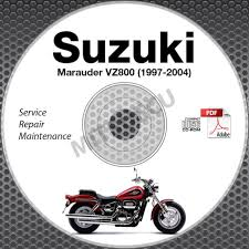 1997 2004 suzuki vz800 marauder service manual cd rom 1998 1999