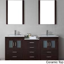 virtu usa dior 66 inch double sink vanity set in espresso free