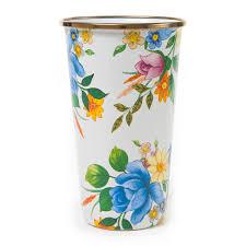 mackenzie childs vase buy mackenzie childs flower market enamel tumbler white amara