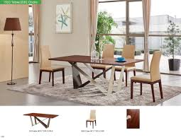 Casual Dining Room Furniture 1533 Dining Table With 2082 Chairs Modern Casual Dining Sets