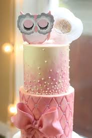 owl themed baby shower pink owl baby shower cake bakes creative ideas