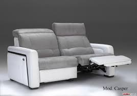 Leather Electric Recliner Sofa Electric Reclining Sofa Without Remote Control