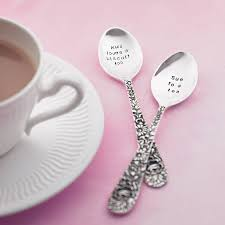 personalized silver gifts personalised silver plated tea spoon by the cutlery commission