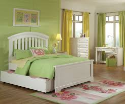 bedroom white upholstered trundle bed with headboard combined