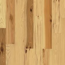Unfinished Solid Hardwood Flooring Bruce Rustic Hickory 3 4 In Thick X 5 In Wide X Varying