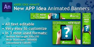 new app idea animated banner http codecanyon net item new app