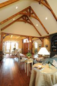 custom homes design build construction vaulted beam
