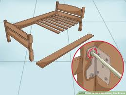 Fix Bed Frame Bed Frame Repair How To Fix A Squeaking Bed Frame Wikihow Design