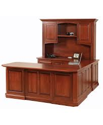U Shape Desk Buckingham U Shape Desk And Hutch Amish Direct Furniture