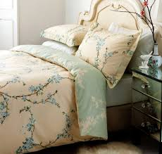sanderson blossom tree king size duvet cover set aqua new