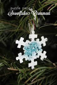 puzzle snowflake ornament papa bubba