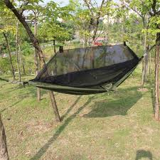 outdoor portable camping hammock swing hanging sleeping bed with