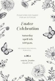 free printable easter invitation templates greetings island