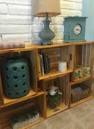 Wooden Bedside Bookcase Shelving Display Wooden Crate Shelf Shelves Display Storage Bookshelf Apple Wood