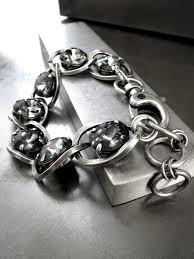 black leather crystal bracelet images Bold bracelets wrapped leather crystal bracelets chain jpg