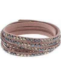swarovski crystal leather bracelet images Bargains 58 off simply vera vera wang pink faux leather multi