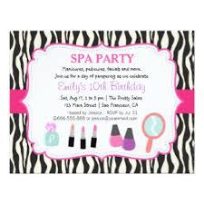girls spa party invitations u0026 announcements zazzle co uk