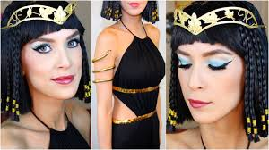 cleopatra halloween costume makeup tutorial youtube