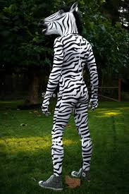 2017 dhl zebra headless suit with head horse mask zentai unitard