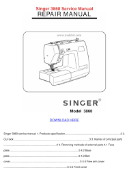 singer 3860 service manual by janett kofford issuu