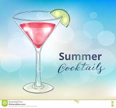 lemon drop martini clip art hand drawn martini cocktail stock vector image 74631546