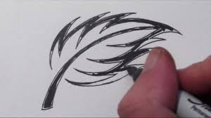 how to draw a spiky rose leaf tribal tattoo design youtube