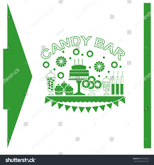 cakes candy and flowers candy buffet flowers cakes wedding dessert stock vector 347724185