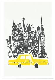 home design 3d premium new york cityscape posters skyline of the upper east side home