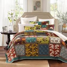 brighten your bedroom decor with bohemian comforters and