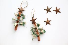 primitive homespun fabric cinnamon tree ornament