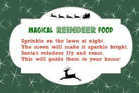 magical reindeer food recipe free printable poem tag mama cheaps