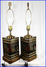 Frederick Cooper Table Lamps by 1 Pair Frederick Cooper Oriental Asian Tea Canister Table Lamps