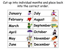 months of the year animated powerpoint presentation worksheets
