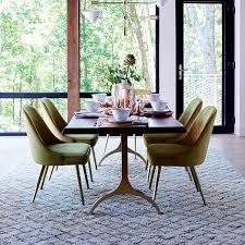 Velvet Dining Room Chairs Mid Century Upholstered Dining Chair Velvet West Elm Velvet Dining