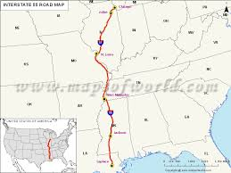 louisiana highway map us interstate 55 i 55 map laplace louisiana to chicago illinois