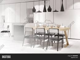 Eat In Kitchen Furniture Sketch Of A Modern Eat In Kitchen With Dining Table From Interior