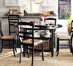 Pottery Barn Dining Room Ideas Shayne Drop Leaf Kitchen Table Black Pottery Barn